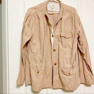 Aritzia Wilfred linen blend utility jacket Sz L